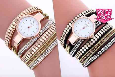 Solo Act - Crystal chain wrap watch - Save 88%