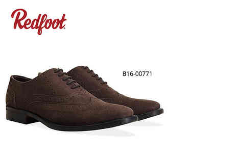 Shoeprimo - Pair of mens suede brogues choose brown, tan or navy - Save 86%