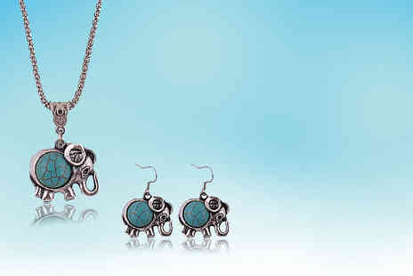 Alvis Fashion - Tibetan style elephant jewellery set - Save 87%
