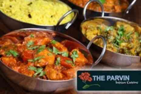 The Parvin - Two Course Indian Meal For Two - Save 64%