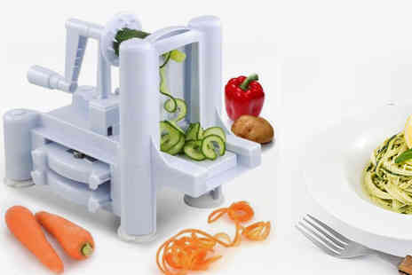 Kequ World - Food spiral slicer with three blade attachments - Save 80%