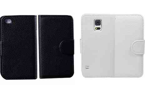 Groupon Goods Global GmbH - Magnetic Wallet Case for iPhone and Samsung Phones - Save 85%
