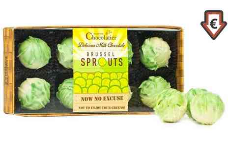 Groupon Goods Global GmbH - Eight Pack of Martins Chocolatier Chocolate Truffle Brussels Sprouts - Save 80%