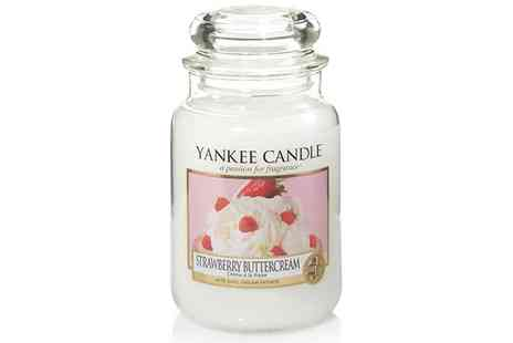 Groupon Goods Global GmbH - Yankee Candle Strawberry Buttercream Large Jar Candle - Save 36%