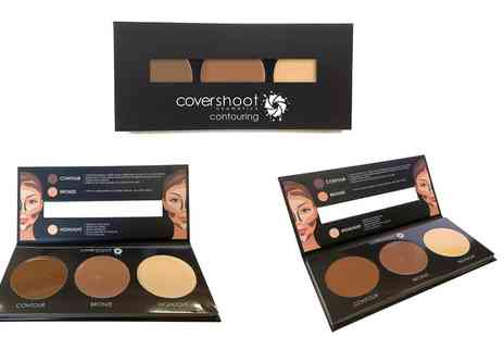 Groupon Goods Global GmbH - One, Two or Three Covershoot Cosmetics Cream Foundation Contour Palette Kits - Save 70%
