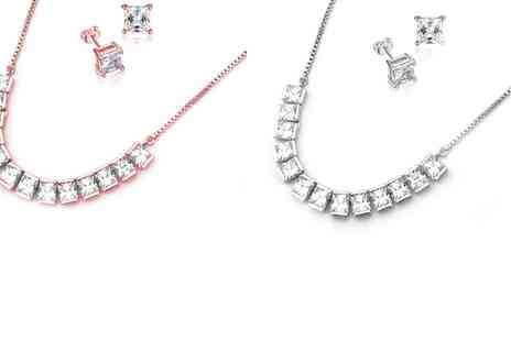 Groupon Goods Global GmbH - One or Two Freyja Pendant and Earring Sets in Choice of Colours made with Swarovski Elements - Save 65%