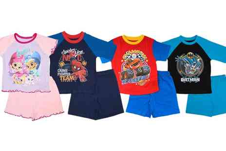 Groupon Goods Global GmbH - Character Themed Childrens Summer Pyjamas in Choice of Designs - Save 56%