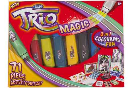 Groupon Goods Global GmbH - RenArt Trio Magic 71 Piece Activity Set - Save 50%