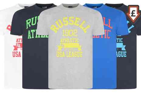 Groupon Goods Global GmbH - Russell Athletic Mens TShirts in Choice of Colour - Save 0%