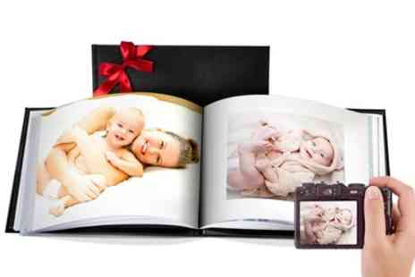 Printerpix - Personalised Leather Photobook with 20 or 40 Pages - Save 67%