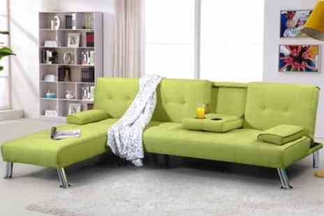 Groupon Goods Global GmbH - New York Chaise Longue or Three Seater Fabric Sofa Bed - Save 45%