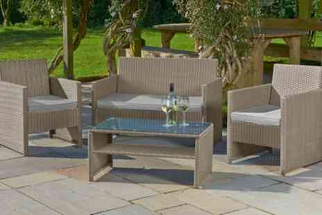 Groupon Goods Global GmbH - St Barts Four Piece Rattan Effect Garden Lounge Set - Save 65%