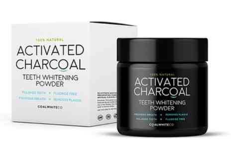 Groupon Goods Global GmbH - One or Two Activated Charcoal Teeth Whitening Powder Jars - Save 80%
