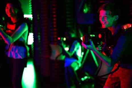Laser Quest - Two Laser Tag Games with a Soft Drink for Two or Four - Save 52%