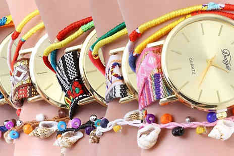 Romatco - Kyra Charm Watch With Beads and Shells Available in 5 Colours - Save 84%