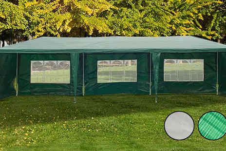 MHStar Uk - 3m x 9m Waterproof Party Gazebo Choose 2 Colours - Save 64%