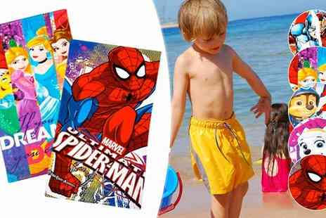 House Warehouse - Disney and Marvel Beach Towels Available in Five Designs - Save 47%