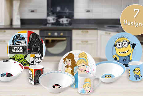 House Warehouse - Marvel and Disney 3 Piece Dinnerware Set Available in Seven Designs - Save 60%