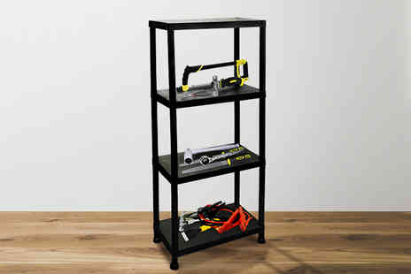 Ckent - 4 tier plastic shelving rack - Save 67%