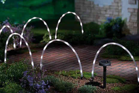 SHS Trading - Six solar powered LED arc garden lights - Save 52%