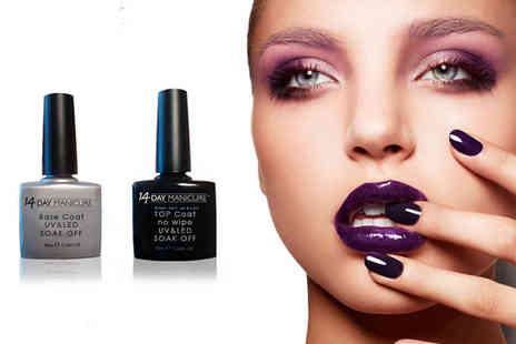 14 Day Manicure - 10ml express top coat and 10ml base coat - Save 67%