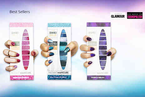 Dinkibelle - Three pack of nail wraps choose from four collections - Save 55%