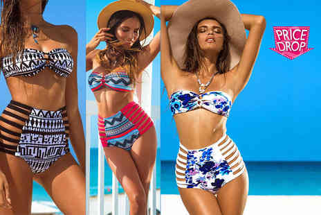 Boni Caro - Retro high waisted bikini choose from three colours - Save 87%