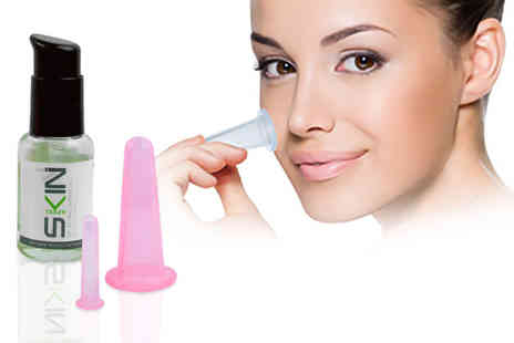 Forever Cosmetics - Silicone facial massage cups kit or include bio retinol repair oil - Save 40%