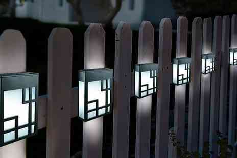 Groupon Goods Global GmbH - Globrite Solar Fence Lights - Save 65%