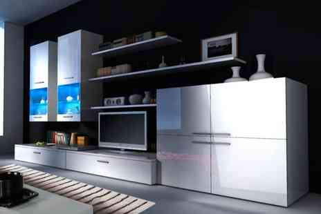 Groupon Goods Global GmbH - High Gloss TV and Storage System - Save 34%
