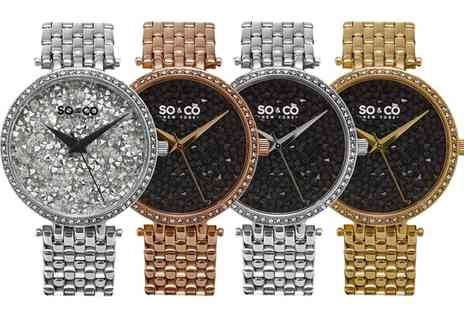 Groupon Goods Global GmbH - So&Co New York Womens SoHo Watch With Free Delivery - Save 87%