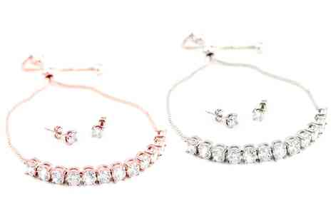 Groupon Goods Global GmbH - One or Two Venus Bracelet and Earrings Sets with Crystals from Swarovski - Save 65%