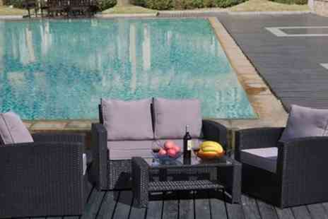 Groupon Goods Global GmbH - Rattan Effect Four Seater Sofa Set in Choice of Colour - Save 0%