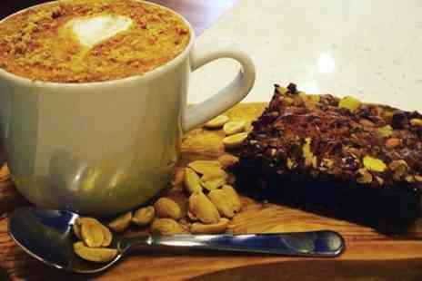 Old George - Luxury Brownie and Artisan Coffee for Two - Save 41%