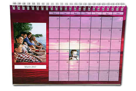 uPhotogifts - Personalised Photo Calendar A3, A4 or Desk Designs - Save 50%