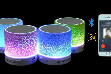 Richardson Group - Portable LED Bluetooth Speakers Available in Six Colours - Save 78%