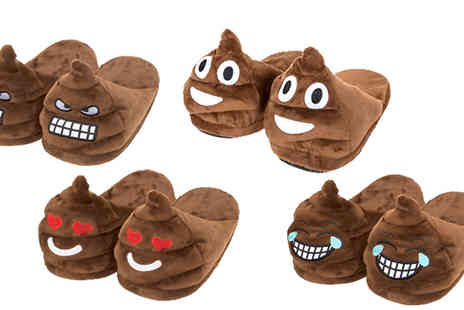House Warehouse - Adult Size Poop Emoji Slippers in 4 Sizes - Save 50%