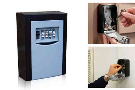 Graboom - Four Digit Spare Key Combination Lock Safe - Save 0%