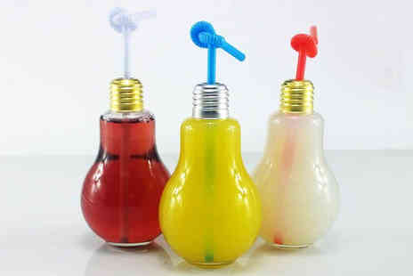 iThink Gadgets - 4 Light Bulb Drinking Jars - Save 69%