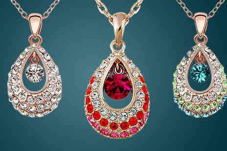 India Rose Designs - Peacock Jewel Necklace in 3 Colours - Save 83%