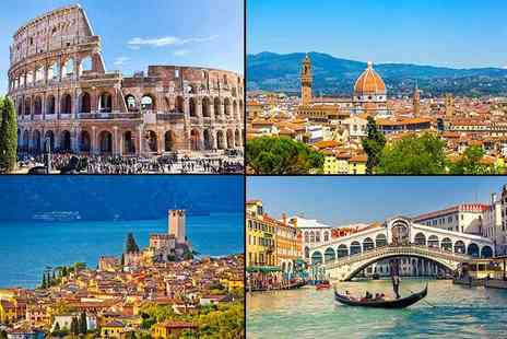 Tour Center - Two or three night Mystery Italy Break to one of 15 possible locations, including Rome, Venice and Lake Como - Save 79%