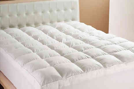 Home Furnishings Company - Single, double, king or super king size mattress topper - Save 75%