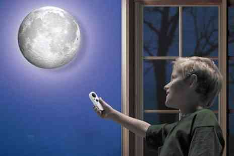 Groupon Goods Global GmbH - One  or Two LED Rotating Moon Lights With Remote Control - Save 57%