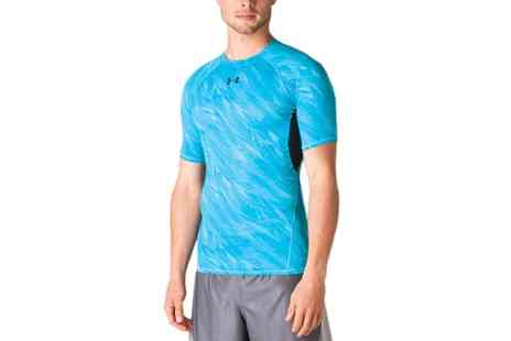 Groupon Goods Global GmbH - Under Armour Mens HeatGear Printed TShirt - Save 48%