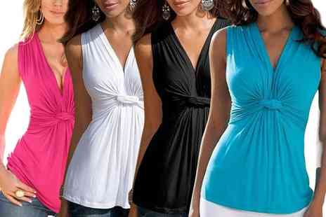 Groupon Goods Global GmbH - Womens Sleeveless Knot Top - Save 0%