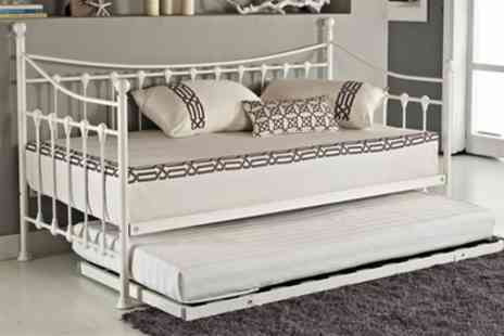 Groupon Goods Global GmbH - French Style Day Bed with Optional Trundle and Mattress With Free Delivery - Save 75%