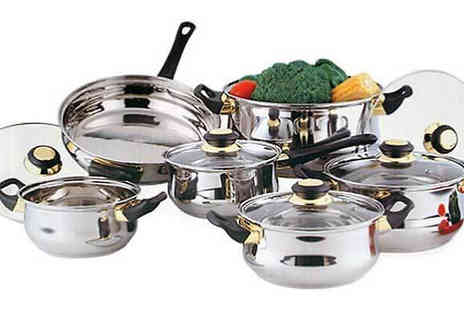 Direct 2 public - 12 Piece Stainless Steel Pan Set - Save 79%