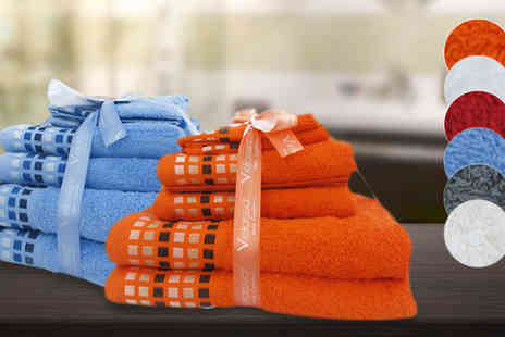 Home and Textiles - Six Piece Towel Bale Set in 6 Colours - Save 0%
