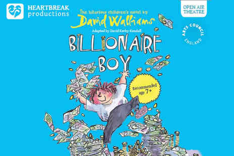 Heartbreak Productions - Two outdoor theatre tickets to see David Walliams Billionaire Boy - Save 56%