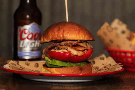 Bubba Q - Authentic American smoked BBQ burger with wine, beer or Prosecco - Save 52%